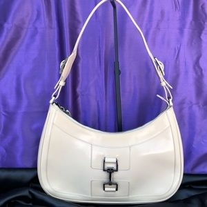 Gucci Stiff Leather Hobo ECU in Bone Color